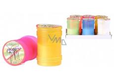 Citronella Repelentní vonná svíčka proti komárům, v plastu, barevný mix 60 x 95 mm 1 kus