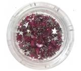 Professional Ozdoby na nehty kamínky hvězdičky růžové 132