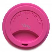 Jack N Jill BIO Silikonové víčko na kelímek růžové 8,7 x 1,8 cm