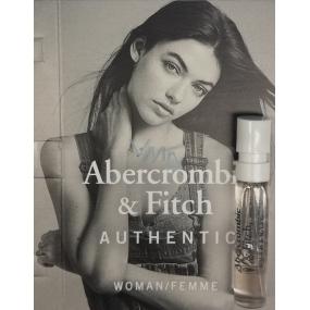 Abercrombie & Fitch Authentic Woman parfémovaná voda 2 ml s rozprašovačem, vialka