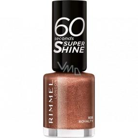 Rimmel London 60 Seconds Super Shine Nail Polish lak na nehty 835 Royalty 8 ml