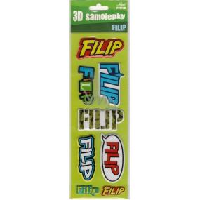 Nekupto 3D Samolepky se jménem Filip 8 kusů 028