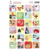 Arch Advent samolepky adventní kalendář 24 etiket
