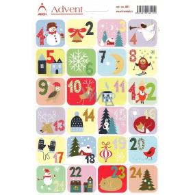 Arch Advent samolepky adventní kalendář 801 24 etiket