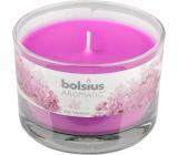 Bolsius Aromatic Lilac Blossom vonná svíčka ve skle 90 x 65 mm 247 g