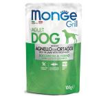 Monge Dog Grill jehněčí se zeleninou kapsička 100 g