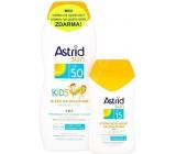 Astrid Sun Kids OF50 mléko na opalování 200 ml + Astrid Sun OF15 Hydratační mléko na opalování 100 ml, duopack