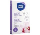 Body Natur Sladká mandle epilační voskové pásky na obličej pro citlivou pleť 12 kusů + poepilační ubrousky 2 kusy