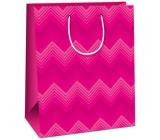 Ditipo Dárková papírová taška velká růžová 26,4 x 13,7 x 32,4 cm AB