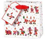 BSB Luxusní dárková papírová taška 14,5 x 15 x 6 cm Santa VDT 002 CD