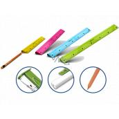Y-Plus Multifunkční pravítko 4v1 s tužkou, pryží a ořezávátkem 30 cm různé barvy
