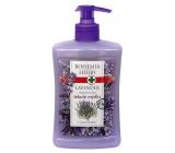 Bohemia Herbs Lavender regenerační tekuté mýdlo dávkovač 500 ml