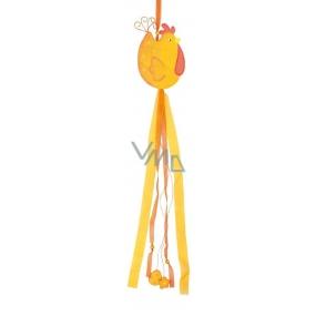Slepička dřevěná s mašlemi výška 80 cm oranžová 1 kus