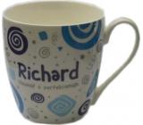 Nekupto Twister hrnek se jménem Richard modrý 0,4 litru
