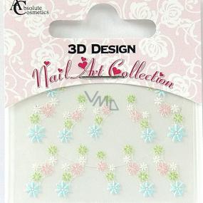 Absolute Cosmetics Nail Art 3D nálepky na nehty 24911 1 aršík