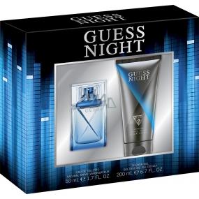 Guess Night toaletní voda pro muže 50 ml + sprchový gel 200 ml, dárková sada