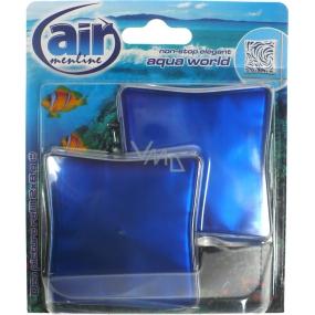 Air Menline Deo Picture Non Stop Elegant Aqua World gelový osvěžovač vzduchu náhradní náplň 2 x 8 g