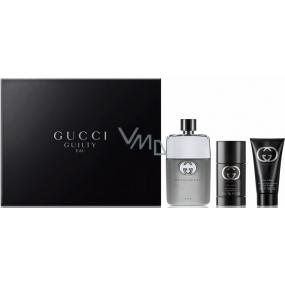 Gucci Guilty Eau Pour Homme toaletní voda 90 ml + Guilty deodorant stick 75 ml + Guilty sprchový gel 50 ml, dárková sada