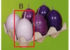 Lima Aromatické vajíčko svíčka světle fialová 40 x 60 mm 1 kus