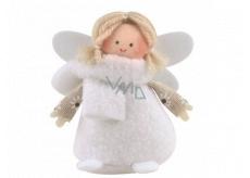 Anděl bílé šaty 9 cm