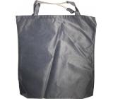 Taška nákupní tmavě šedá s bužírkou 41 x 38 x 4 cm 9941