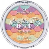 Essence Glow Like a Mermaid rozjasňovač 10 Forever Mermaid 10 g