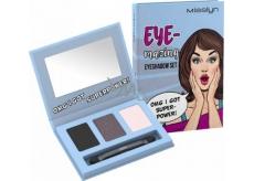 Misslyn Eye-mazing Eyeshadow Set paletka očních stínů 01 Omg I Got Superpower! 3 x 0,7 g