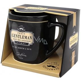 Nekupto Liga Pravých Gentlemanů hrnek v krabičce, Pravý GENTLEMAN, není jen legendou. Ty jsi jedním z nich, 7,5 x 9 cm