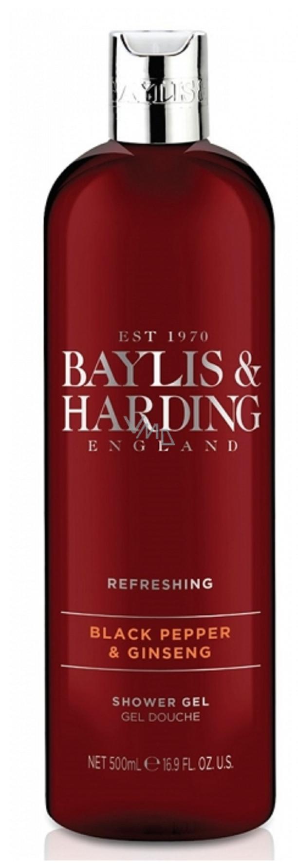 39d42f378b Baylis   Harding Čierne korenie a Ženšen sprchový gél pre mužov 500 ...