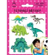 Arch Tetovací obtisky s atestem pro děti Dinosauři 01 2541