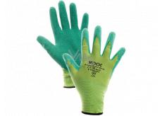 Kixx Groovy Green pracovní nylonové rukavice s latexovým povrchem, velikost 8, GD900320