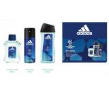 Adidas UEFA Champions League Dare Edition VI toaletní voda pro muže 100 ml + sprchový gel 250 ml + deodorant sprej 150 ml, dárková sada