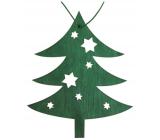 Strom dřevěný závěsný zelený 10 cm
