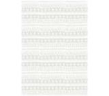 Ditipo Dárkový balicí papír 70 x 100 cm Vánoční bílé čárky, vločky, srdíčka 2 archy