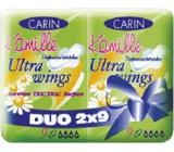 Carine Ultra Wings Kamille intimní vložky Duo 2 x 9 ks