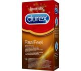 Durex Real Feel kondomy pro přirozený pocit kůže na kůži nominální šířka: 56 mm 10 kusů