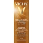 Vichy Ideal Soleil Auto Bronzant hydratační samoopalovací mléko na obličej a tělo 100 ml