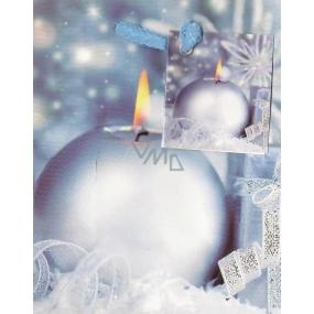 Nekupto Dárková papírová taška malá 14 x 11 x 6,5 cm modrá svíčka 905 40 WBS