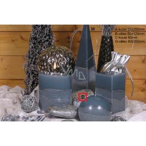 Lima Artic svíčka šedá koule 100 mm 1 kus