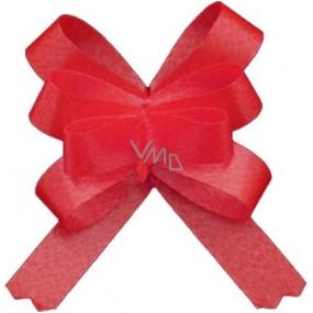 Kokarda stuha stahovací ozdobná červená 50 cm