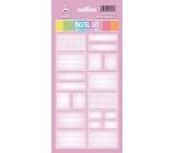 Arch Samolepky do domácnosti Pastelový set růžový 3566 12 etiket