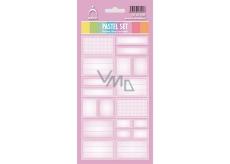 Arch Samolepky do domácnosti Pastelový set růžový 12 etiket