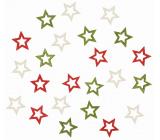 Dřevěné hvězdy 2 cm 24 kusů