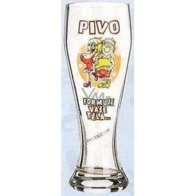 Nekupto Dárky s humorem Pivní sklenice humorné Pivo formuje vaše těla 0,6 l