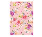 Ditipo Balící papír růžový s květy 100 x 70 cm 2 kusy