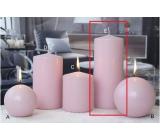 Lima Ice pastel svíčka růžová válec 80 x 200 mm