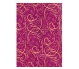 Ditipo Vánoční balicí papír luxusní - fialový zlaté ornamenty 2 m x 70 cm