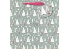Nekupto Dárková papírová taška střední 23 x 23 cm Vánoční 1512 WLIM