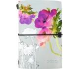 Albi Diář 2020 týdenní luxusní Akvarelové květy 17,8 x 12 x 1,5 cm