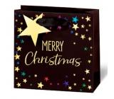BSB Luxusní dárková papírová taška 23 x 19 x 9 cm Vánoční Merry Christmas VDT 433-A5